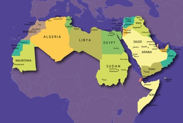 Länderkarte Arabishe Welt