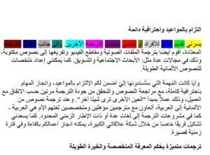 Arabische Wörter werden wie im Deutschen durch Leerzeichen getrennt.